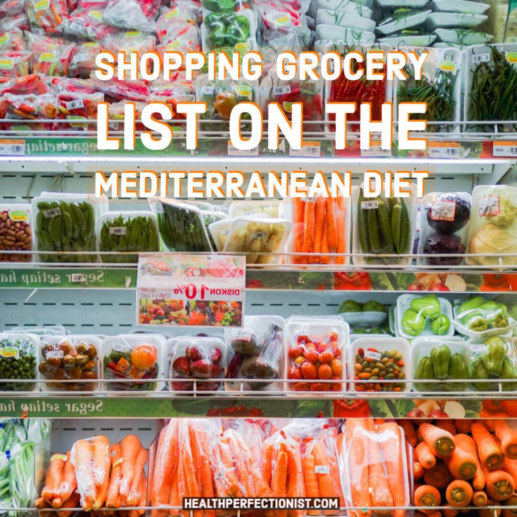 Liste de courses de régime méditerranéen